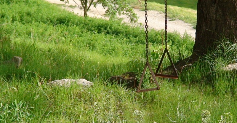Swing on the grass