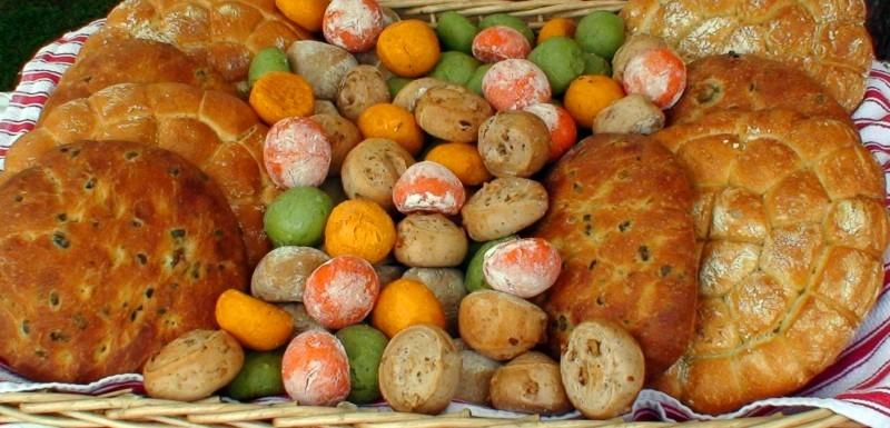 Colored bread