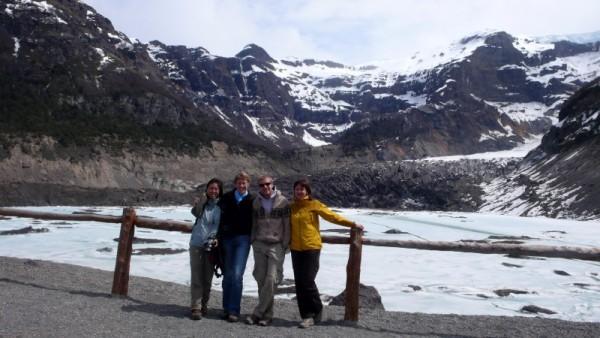 a murky glacier