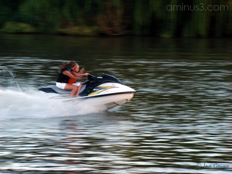 Jetski on Vaal river