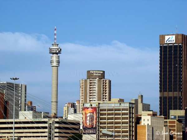 The Hillbrow tower in Johannesburg