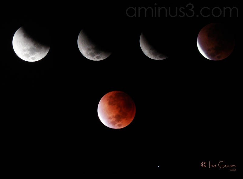 Phases of total lunar eclipse 2008