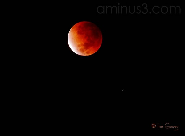 Total lunar eclipse 2008 as seen from South Africa