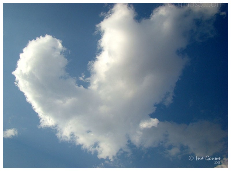 Cloud in a heart shape