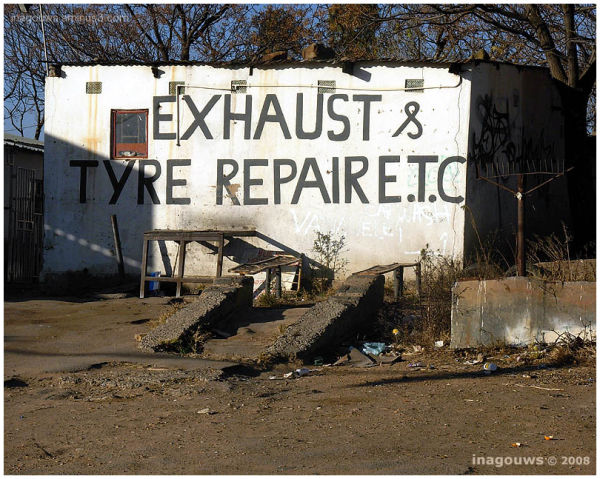 repairs next to the road