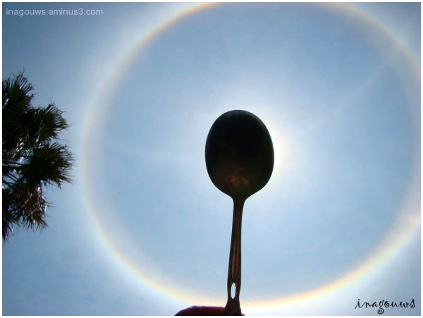 Rainbow circle around the sun