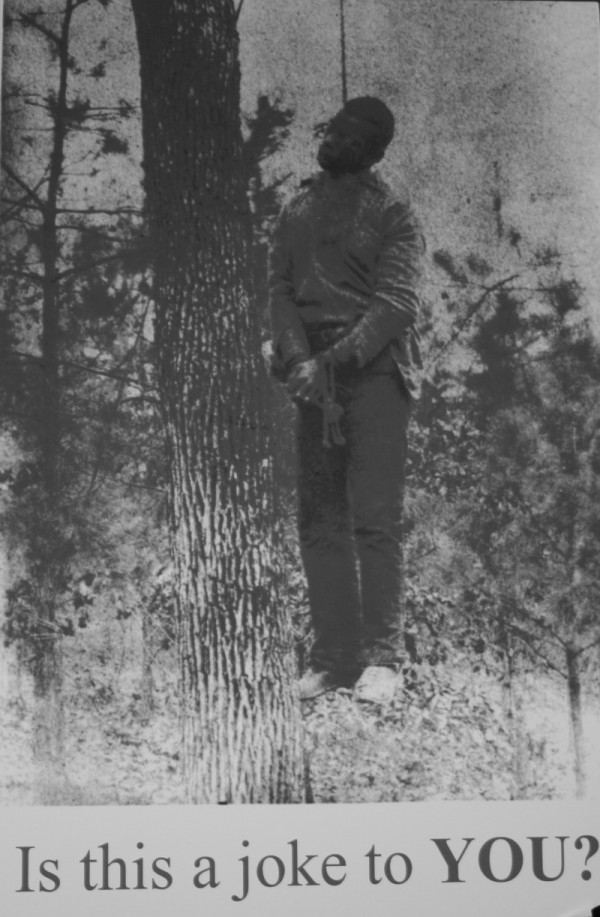 Poster of man being hung