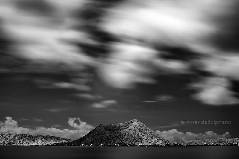 Infrared of Taal Volcano