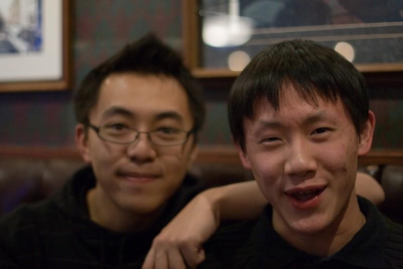 My friend, Kelvin, and I