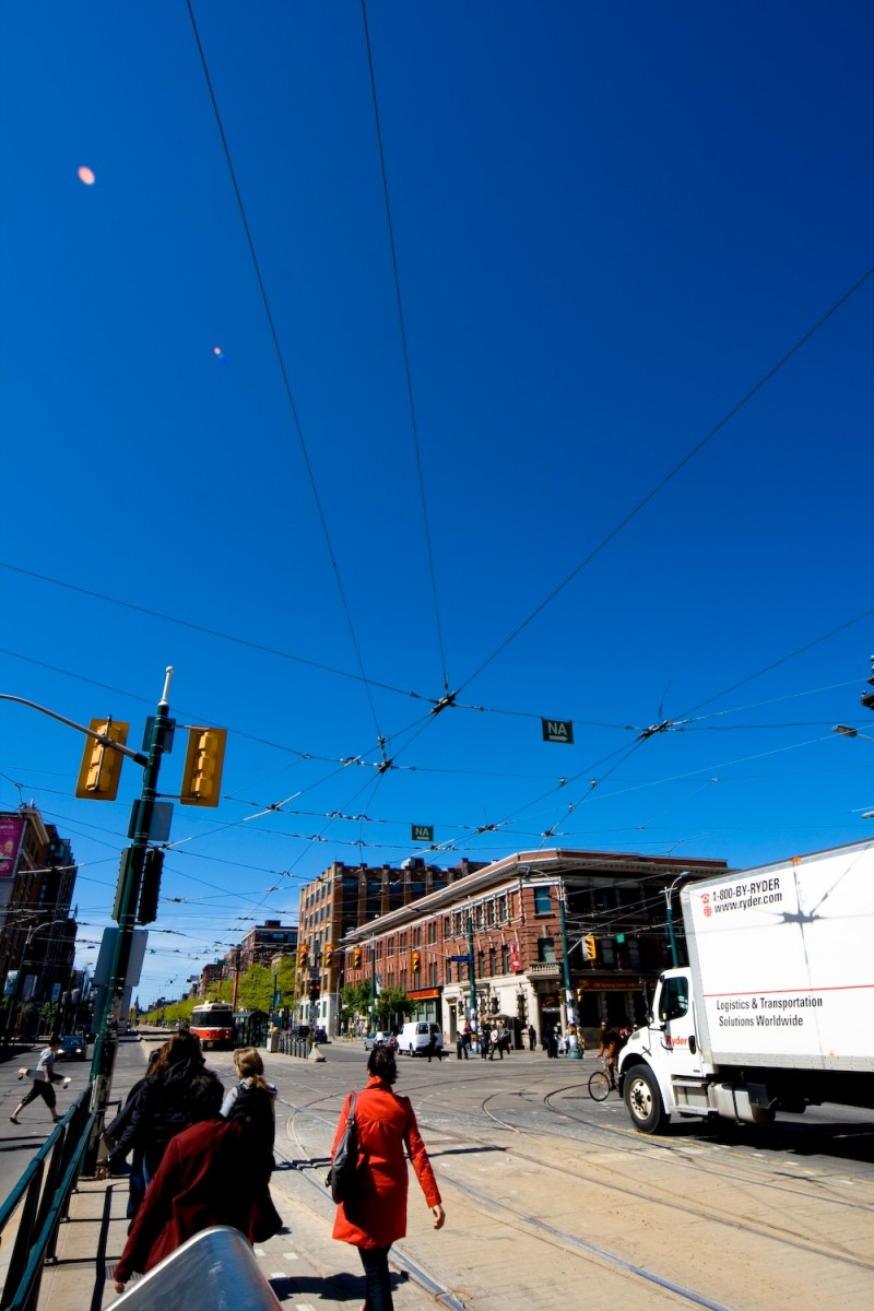 A view of Spadina Road from Queen Street West.