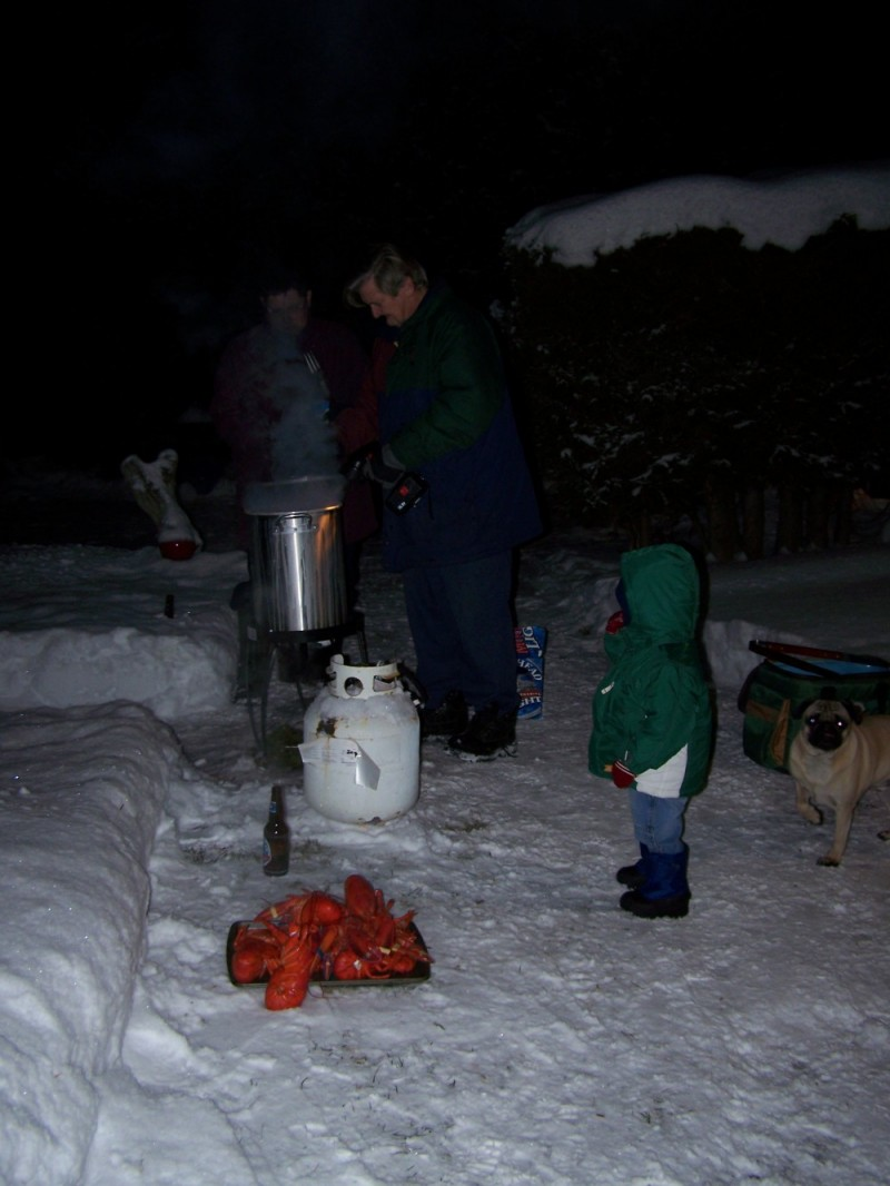 Lobster cooking in the Maritimes
