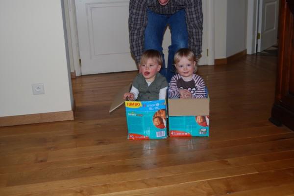 Beim Kistenreiten mit Vicki