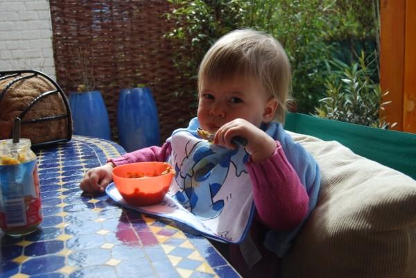 Mittag im Garten