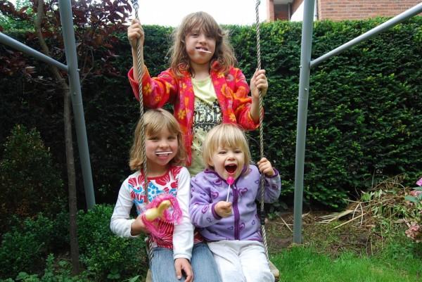 Mit Eva und Mia