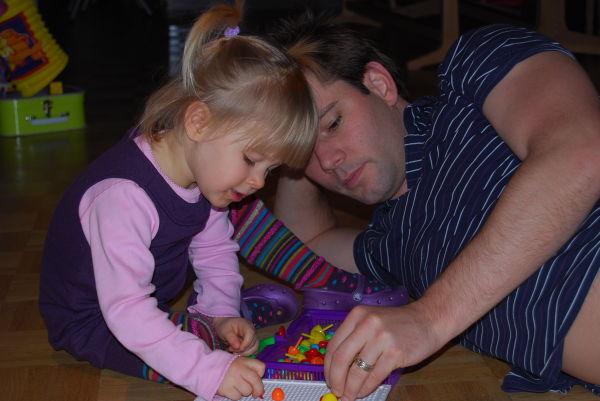 Spielen mit Papa
