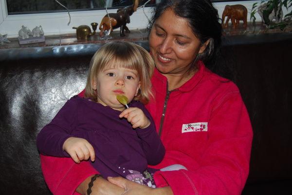 Lolly lutschen mit Mel
