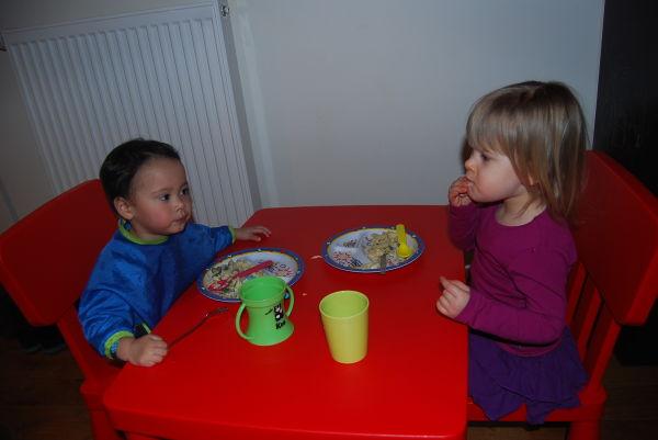 Abendessen mit Riley