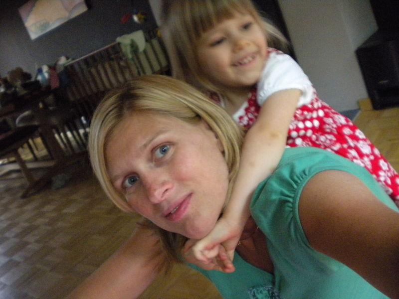 Mama und Lexine toben