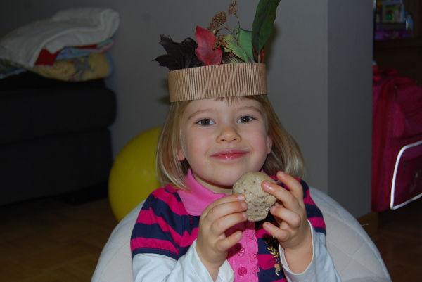 Mit selbstgemachtem Brot und Herbsthut