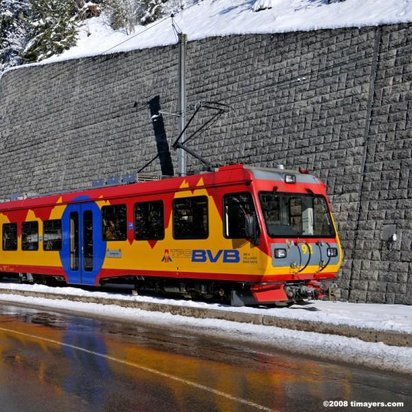 Tram from Villars