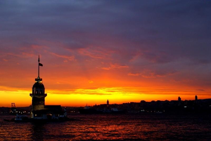 Maiden tower,Istanbul,Kız kulesi,Gün Batımı