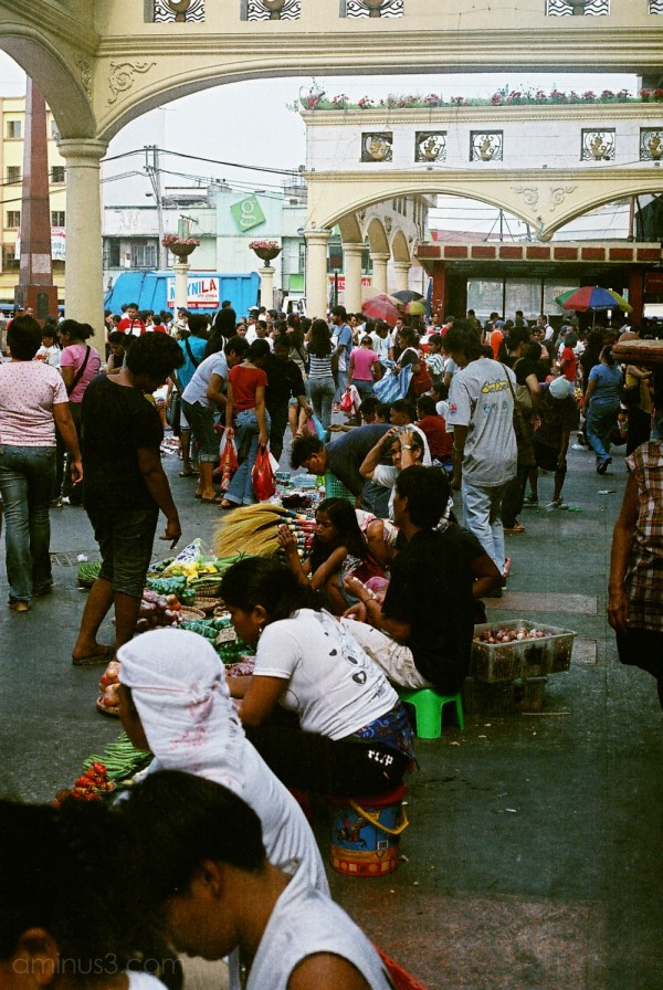 People selling by the Church in Quiapo