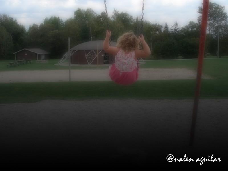 mackenzie on the swing