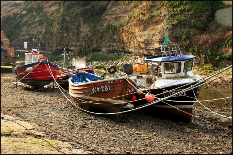 Fishing boats, Staithes Beck