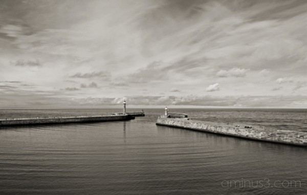 Whitby piers, harbour entrance