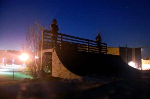 skateboarding, miniramp