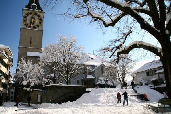 Snow at Zurich