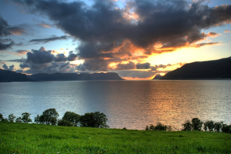 Sunset at Vartdal, Norway