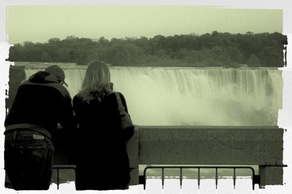 watching niagara falls