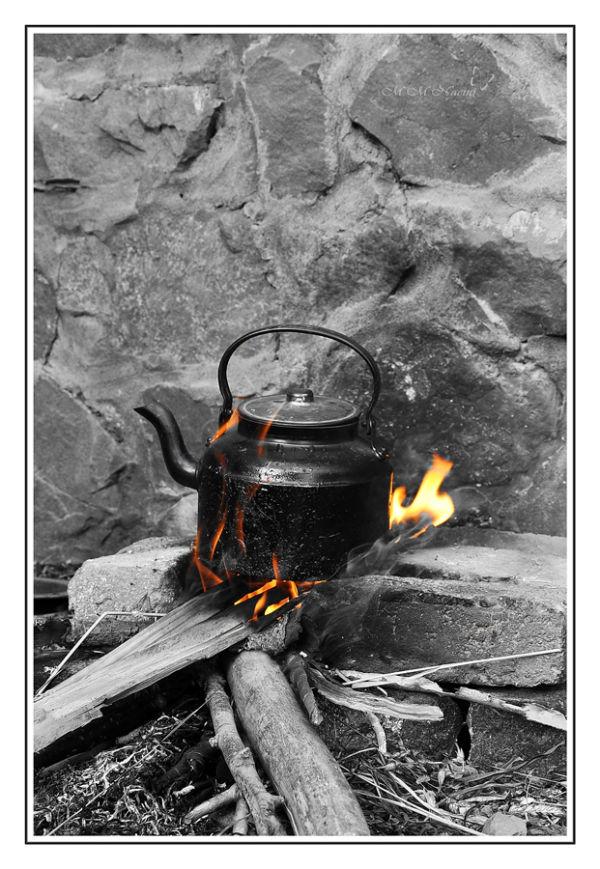 a hot tea