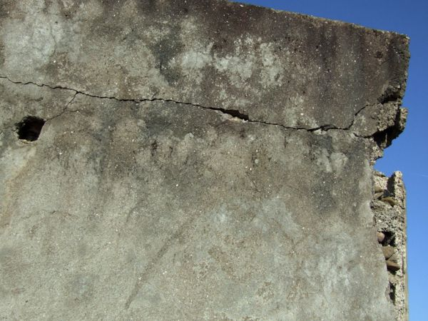 Behind the cracks on the wall