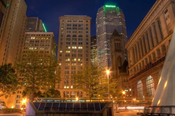 nighttime in Pittsburgh