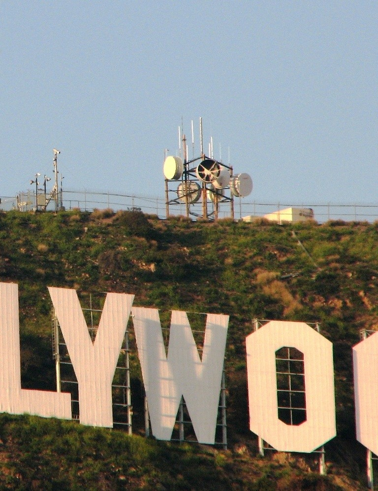 hollywood sign close-up