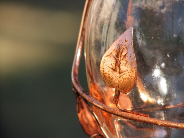 bronze wire gazing ball close-up
