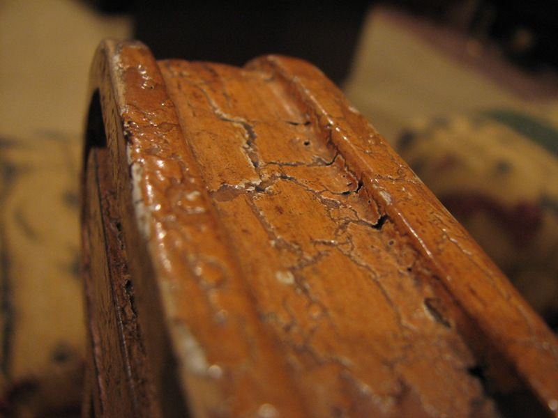 arm of antique chair