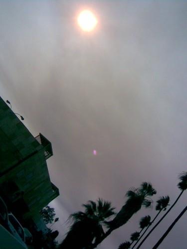 Smoke from the Malibu fire drifts over Winnetka.