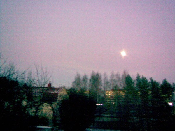 Full moon over Kauriala, Hämeenlinna, Finland.