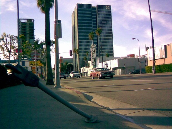 Sunset Boulevard between El Centro and Gower.