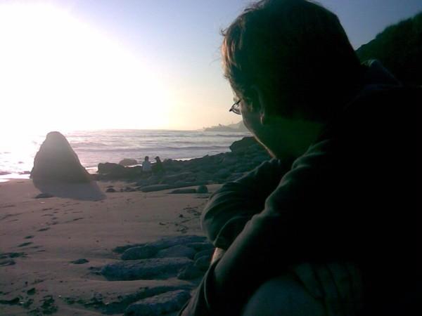 Lonely valentine at Malibu Beach.