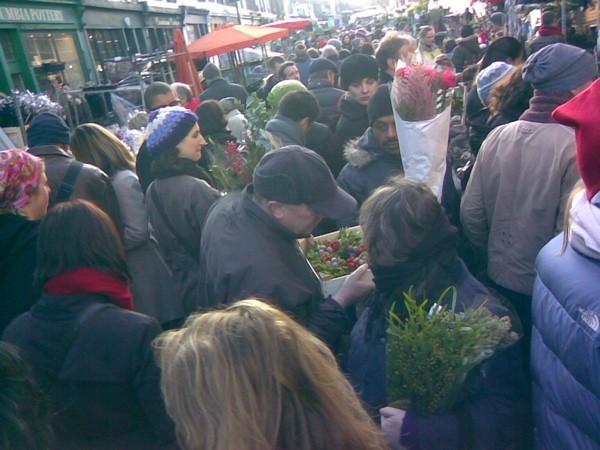 Columbia Road Flower Market, East End, London.