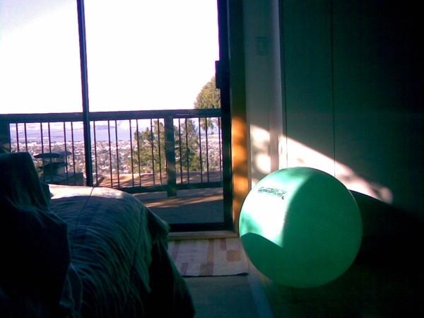 Green ball, bedroom in Berkeley Hills.