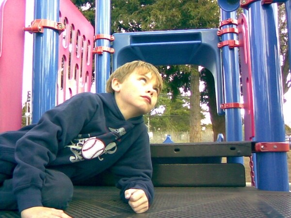Daniel on a playground in Albany, California.