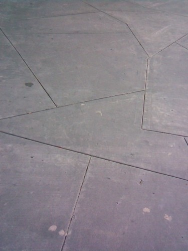 Modernist sidewalk.