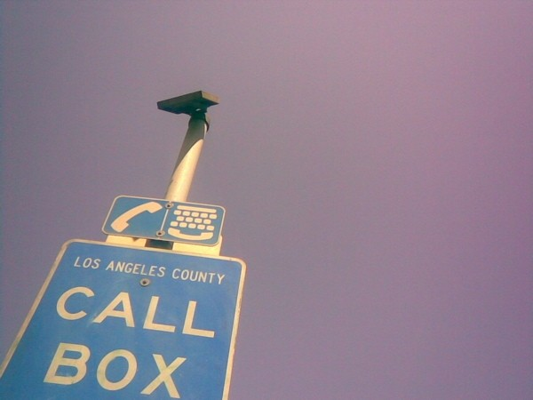 Call box on Hwy 170-N, Los Angeles County.