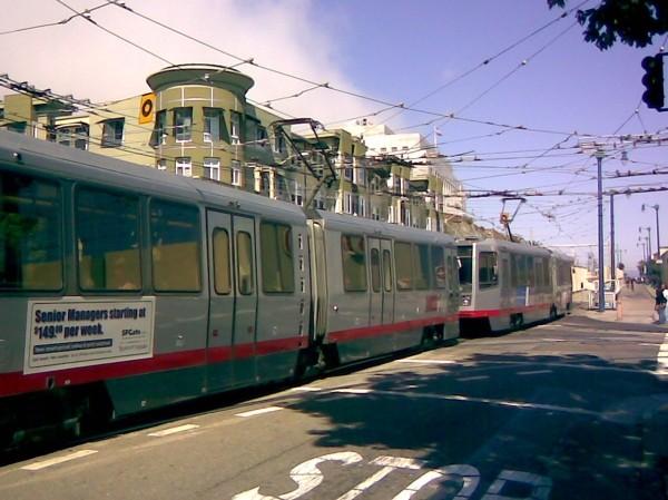 N-Judah Muni streetcar line in San Francisco.
