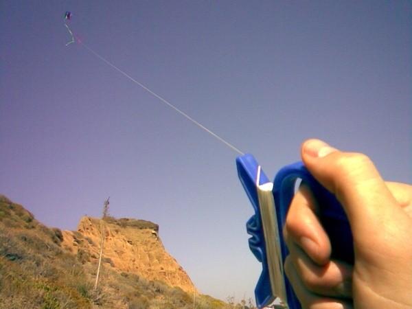 Joseph Knowles flies another kite.